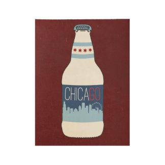 Poster Sur Bois Bières de Chicago