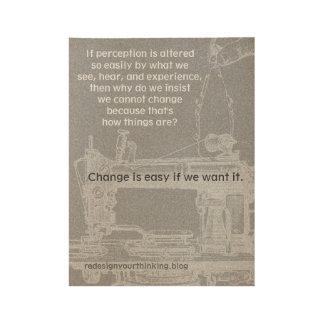 Poster Sur Bois Changez est facile