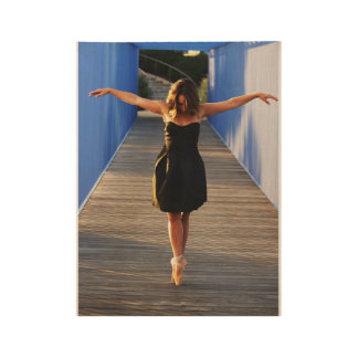 Poster Sur Bois Danse sur un pont