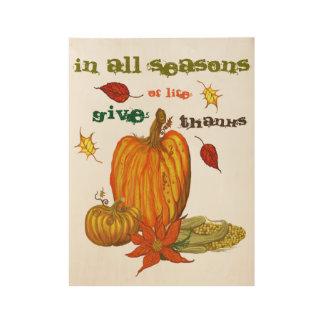 Poster Sur Bois En toutes les saisons