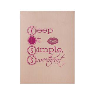 Poster Sur Bois Gardez-le amoureux simple