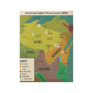 Poster Sur Bois Le Traité 1800 du Wisconsin débarque l'affiche