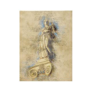 Poster Sur Bois Monument de marbre d'Acropole, Grèce