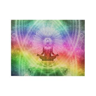 Poster Sur Bois Nirvana bouddhiste de méditation de yoga inspiré