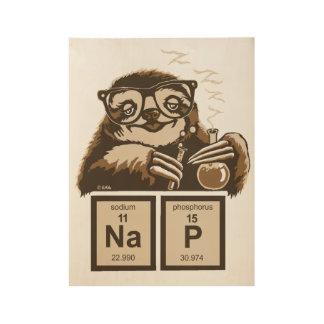 Poster Sur Bois Petit somme découvert par paresse de chimie