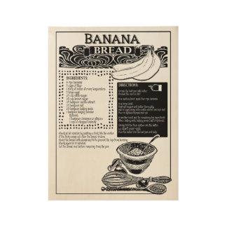 Poster Sur Bois Recette de cake à la banane