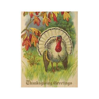 Poster Sur Bois Thanksgiving vintage Turquie