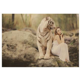 Poster Sur Bois Tigre et Madame de Bengale