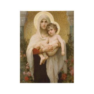 Poster Sur Bois Vierge Marie béni et enfant Jésus de nourrisson