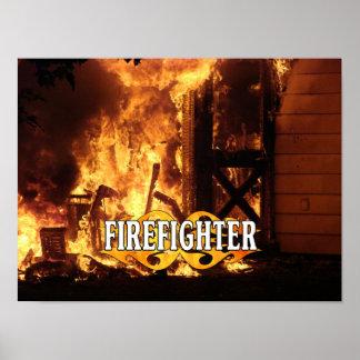 Poster Sur le feu