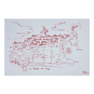 Poster Sur Loup, Provence | de Tourettes au sud de la