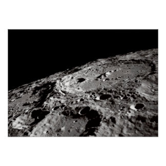 Poster surface lunaire