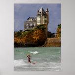 Poster Surfer tandem à Biarritz, France