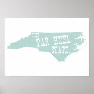 Poster Surnom d'état de la Caroline du Nord