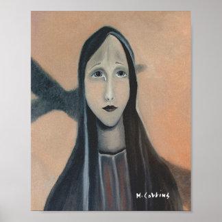 Poster Surréaliste peinture à l'huile la larme d'une mère