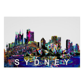 Poster Sydney dans le graffiti