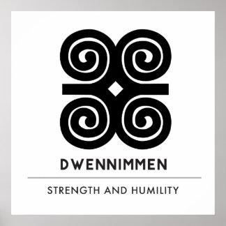 Poster Symbole blanc de Dwennimmen Strength|Humility