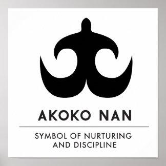 Poster Symbole d'AKOKO NAN | de la consolidation et de la