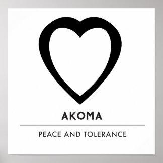 Poster Symbole d'Akoma | pour le blanc de la patience et