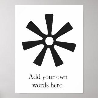 Poster Symbole d'ANANSE NTONTAN | de la sagesse,