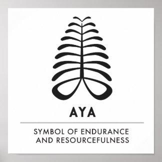 Poster Symbole d'AYA | de la résistance et de