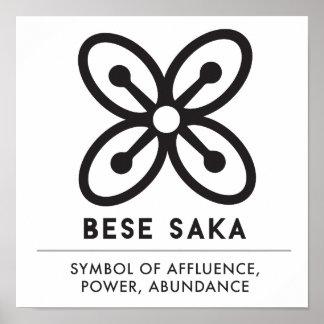 Poster Symbole de BESE SAKA | de richesse, puissance,
