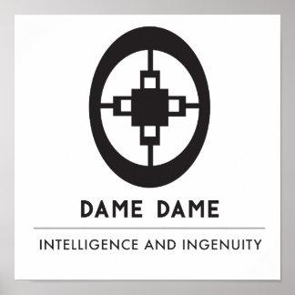 Poster Symbole de dame dame | pour l'intelligence et