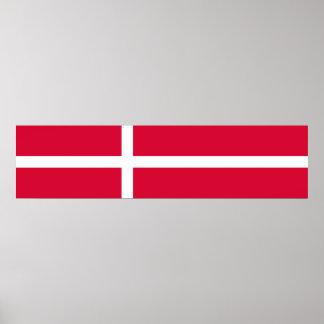 Poster Symbole de drapeau de pays du Danemark longtemps