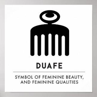 Poster Symbole de Duafe | Adinkra pour la beauté féminine