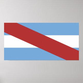 Poster Symbole de province de région de l'Argentine de