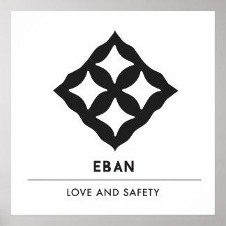 Poster Symbole d'Eban | Adinkra de l'amour, sécurité,