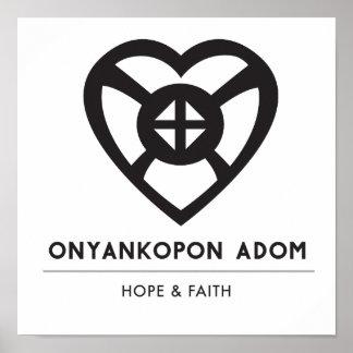 Poster Symbole d'Onyankopon Adom… | pour l'espoir et la