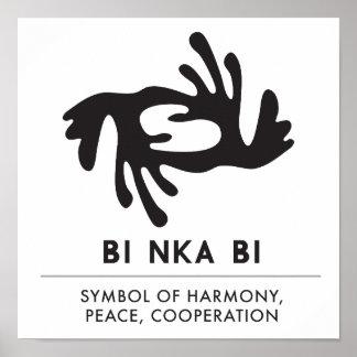 Poster Symbole du BI | du BI NKA d'harmonie, paix,
