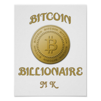 Poster Symbole unique Cryptocurrency de logo de Bitcoin