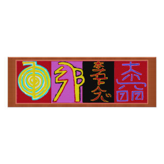 Poster Symboles curatifs 2010 de Reiki
