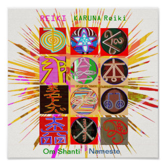 Poster Symboles curatifs de REIKI KARUNA