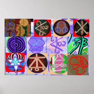 Poster Symboles de Reiki n Karuna Reiki