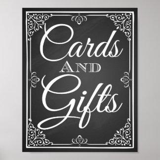 Poster Table de cartes et de cadeaux de signe de mariage