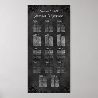 Poster Tableaux du noir 14 de ketmie épousant le