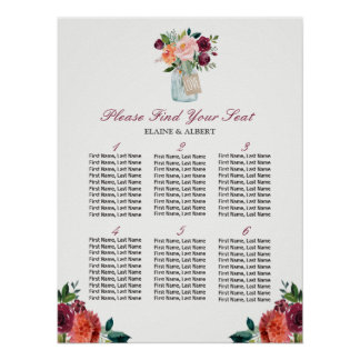 Poster Tableaux du pot de maçon d'amour 6 épousant le