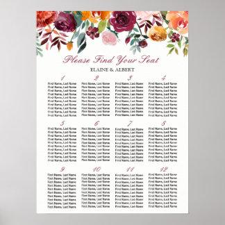 Poster Tableaux floraux de Bourgogne 12 épousant le