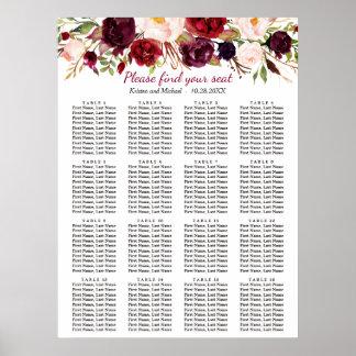 Poster Tableaux floraux de Bourgogne 16 épousant le