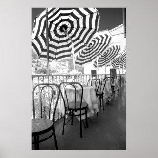 Poster Tableaux noirs et blancs de restaurant