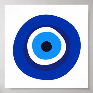 Poster talisman arabe turc grec de symbole d'oeil mauvais
