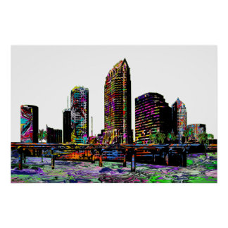 Poster Tampa dans le graffiti