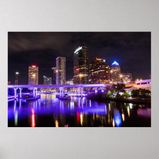 Poster Tampa du centre dans le pourpre