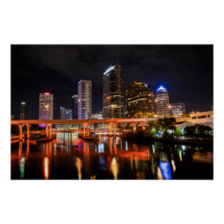 Poster Tampa du centre en affiche orange