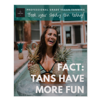 Poster Tans ont plus d'affiche Teal d'amusement marqué