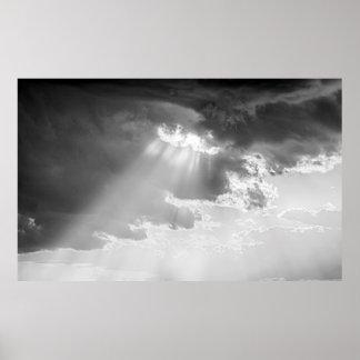 """Poster Tao du nuage """" de papier d'affiche """"Black&White"""