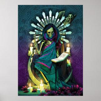 Poster Tarot de Père Noël Muerte - la haute prêtresse